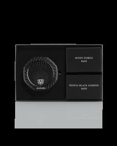 CAR PARFUM + Rosso Nobile & Peonia Black Jasmine Refill